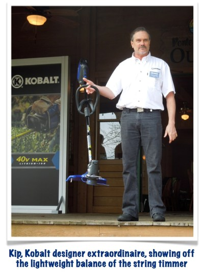 Lightweight & balance characteristics of the Kobalt string trimmer