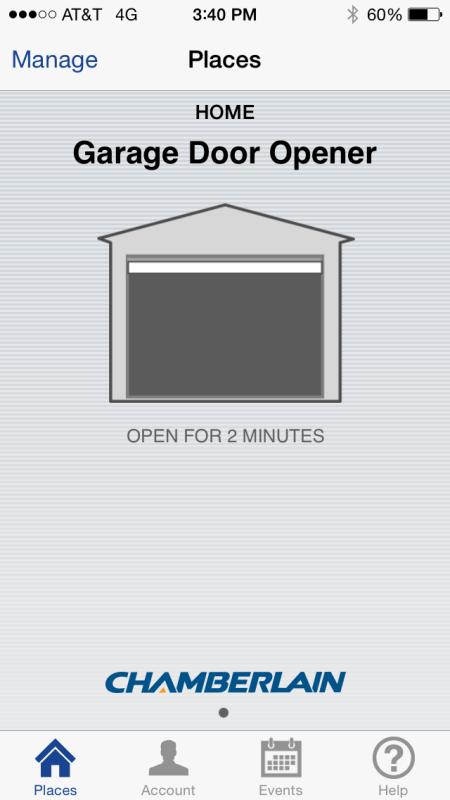 MyQ door open
