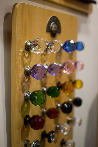 crystal knob board from Top Knobs