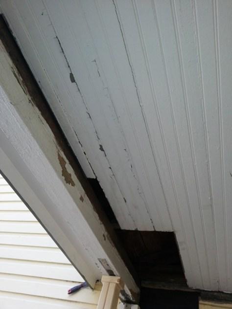 ceiling boards cut back