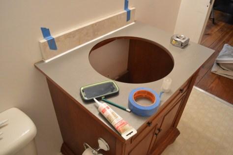 rental refresh :: redone vanity top