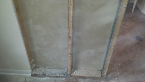 Pocket Door Frame Inside a Wall