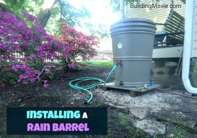 installing a rain barrel