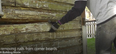Repairing Dutch Lap Wood Siding Remove Nails at Corner Boards
