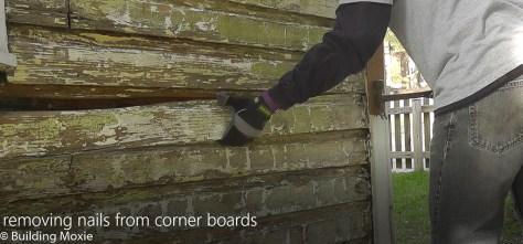Repairing Dutch Lap Wood Siding Remove Nails at Corner Boards
