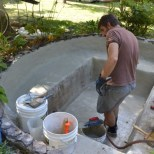 Keeping-Surface-Wet-while-parging