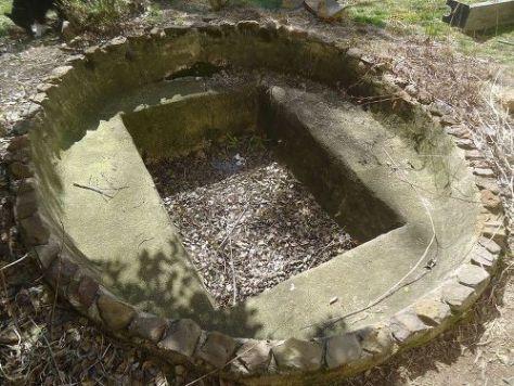 Concrete Pond in Disrepair