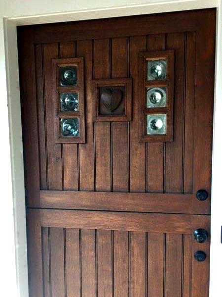 Heart Inlay Exterior Door by Lenny Addario