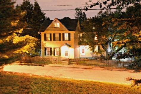 Victorian Farmhouse at night