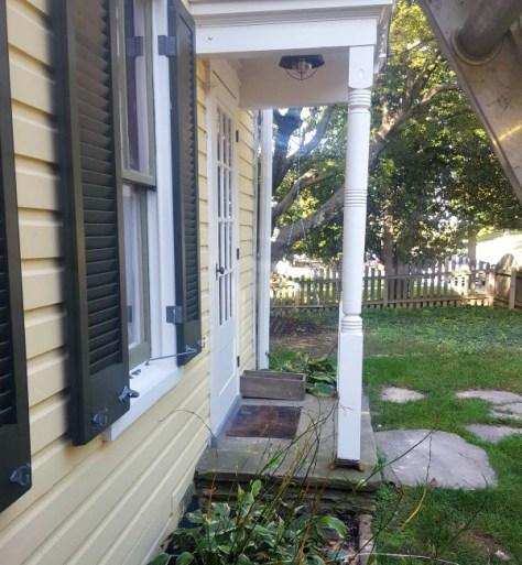 front windows antique shutter stays