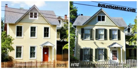 window shutters house before & after