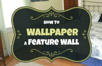 How to Hang Wallpaper on a Feature Wall