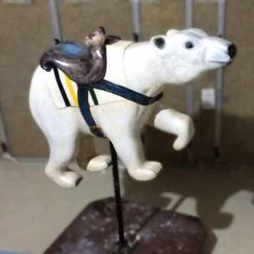 Hand Carved Polar Bear Seat