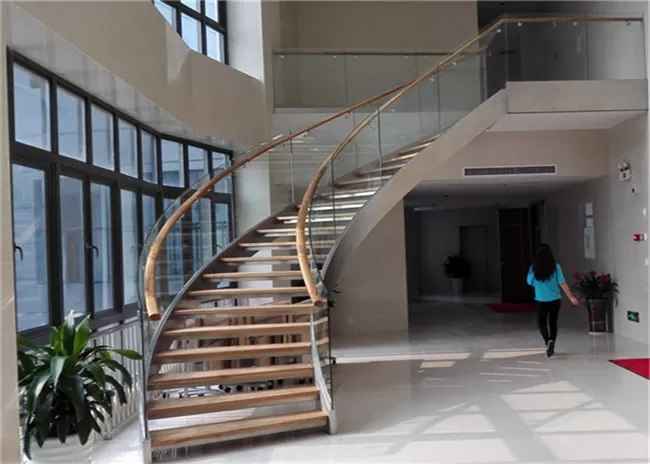 Prefabricated Building Curved Stairs Laminated Glass Tread Diy   Building A Curved Staircase   Indoor   36 Inch Diameter   Garage   Circular   Outside