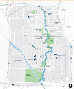 The area included in the West Salt Lake Master Plan is bounded by three freeways and a highway.