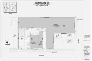 Site plans for Atmosphere Studios.