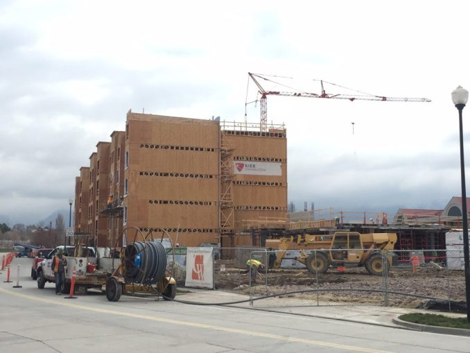 Construction is underway on the Park at City Center. Photo by Isaac Riddle.