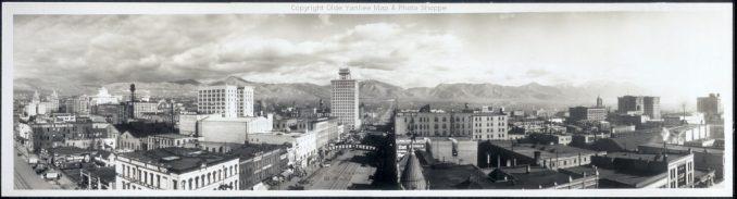 A 1913 photo of downtown Salt Lake. Image courtesy Flickr user oldeyankee.