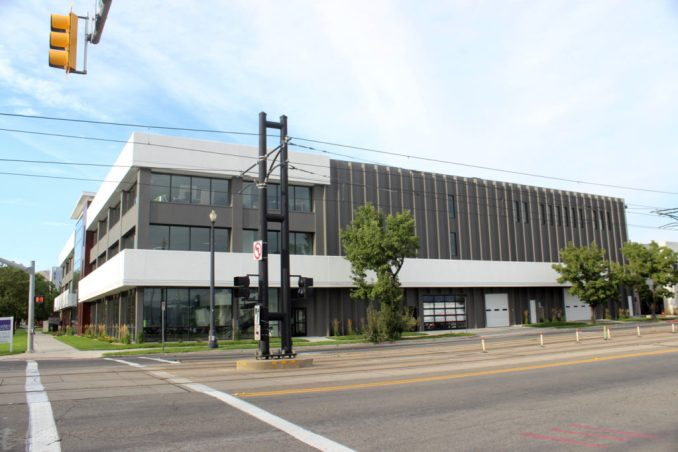 The headquarters of the School Improvement Network at seen from the intersection of 700 South and West Temple. Image by Isaac Riddle.
