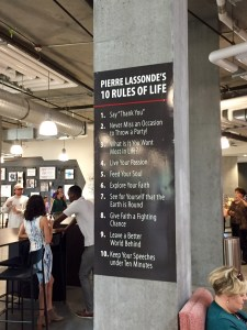 Lassonde's 10 Rules of Life is featured in the first floor, Neeleman Hangar. Photo by Isaac Riddle.