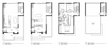 Proposed floor plans for the Central 9th Row Homes. Image courtesy Salt Lake City planning documents.