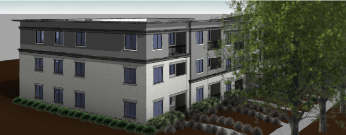 Preliminary rendering of the northwest corner of the 35 S. 900 East development. Image courtesy Salt Lake City planning documents.