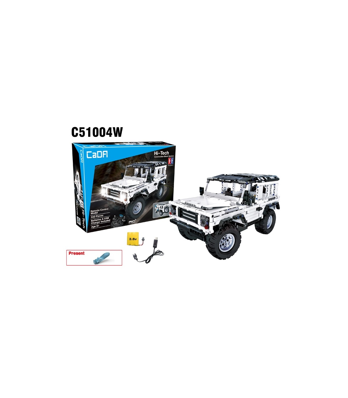 Double Eagle Cada C Land Rover Defender Bausteine Set
