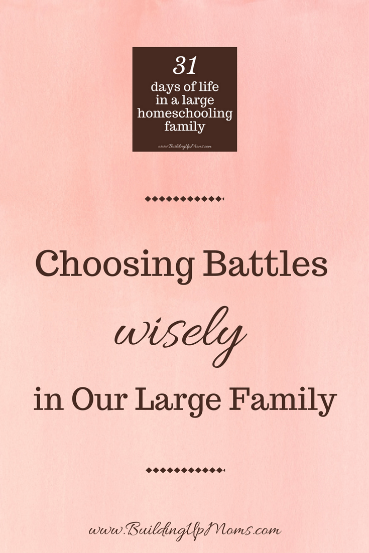 Choosing battles wisely in our large family