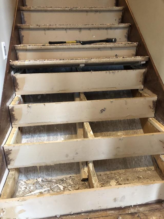 Diy Carpet To Hardwood Stairs Conversion | Converting Carpeted Stairs To Wood | Stair Tread | Staircase Makeover | Laminate Flooring | Wood Flooring | Risers