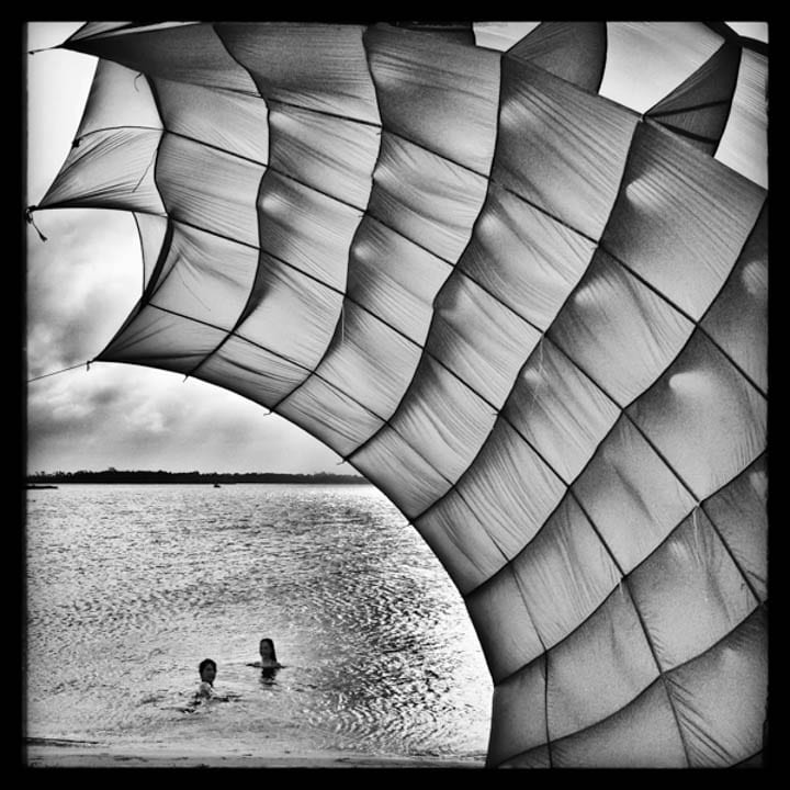 Parachute on the Beach by DB Waltrip