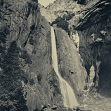 Binh Danh, Lower Yosemite Falls, Yosemite, California, daguerreotype, 13 x 11.5 inches, 2011 ©Bin Danh