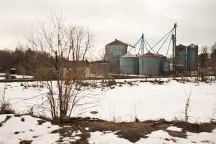 Grain Elevators (Virginia, 10:27:02AM, Winter 2011, Northeast Regional Route)