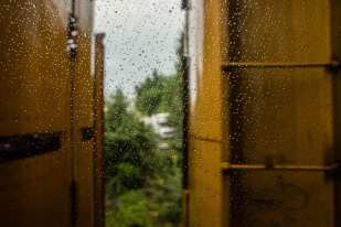 Raindrops (Maryland, 4:37:37PM, Summer 2012, Capitol Limited Route)