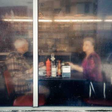 Couple in Window, Hermitage Café, Nashville, TN