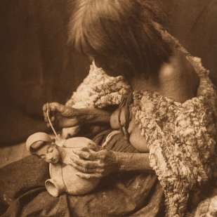 Edward S. Curtis, Mohave Potter, 1907, photogravure, 7 x 5""
