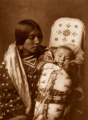 """Edward S. Curtis, Mother and Child, 1908, pigment print, 12 x 9"""""""