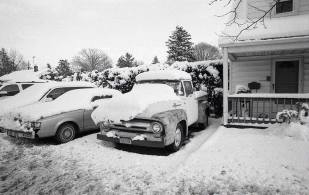 Truck in Snow, Hicksville, ©David Carol