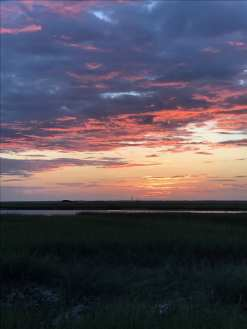 Sunset overlooking the marshes, the first evening on Dewees ©NancyMcCrary