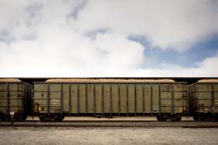 Train Cars, Allendale, Mississippi ©Forest McMullin