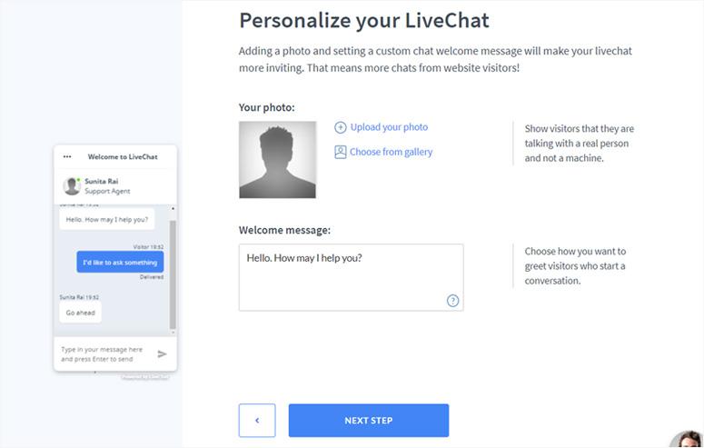 اعداد Live Chat