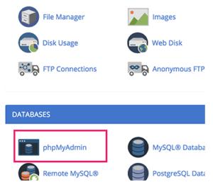 تغيير عنوان البريد الإلكتروني phpmyadmin
