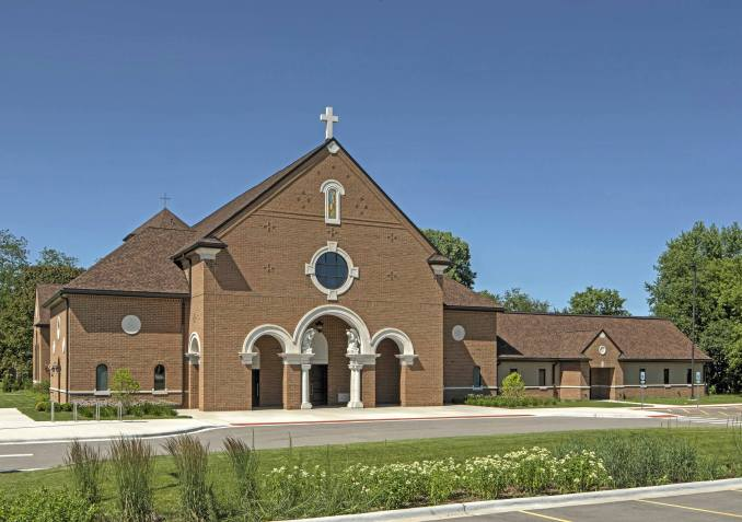 brick church design