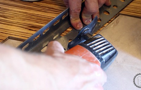 A Multi-Tool can used to cut flooring in-place