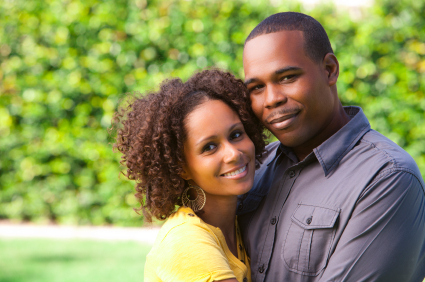 Black Couple in Love