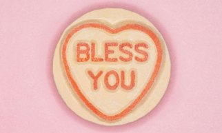 Love Hearts with 'Bless you'