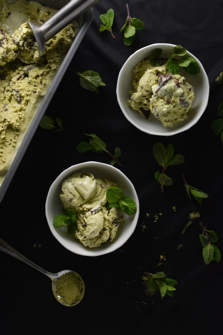 Matcha Mint Mocha Chip Ice Cream