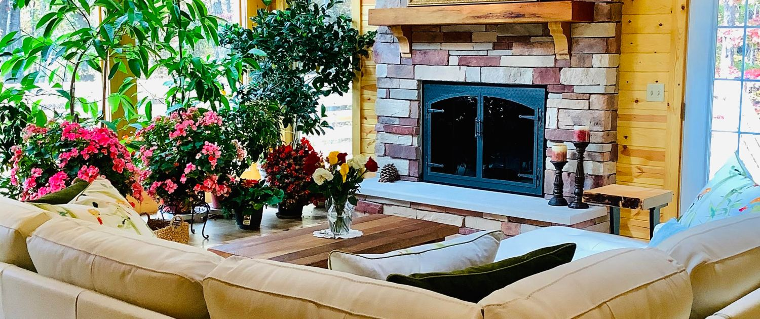 Room addition built by you with new fire place