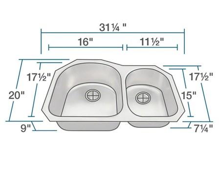 PL1301US Stainless Steel Kitchen Sink