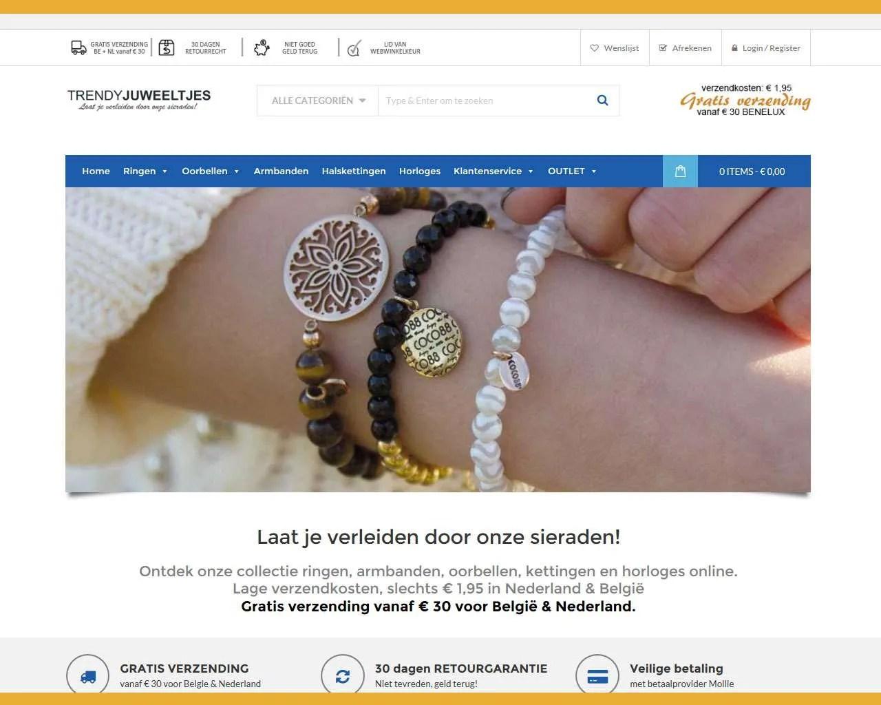 Buitengewoon heeft de webwinkel van Trendy Juweeltjes geproduceerd.