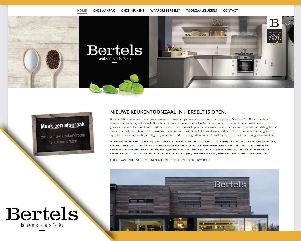 Website Bertels Keukens door Buitengewoon Communicatie | Webdesign